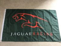 Jaguar XK XKR E-Type XJ XJS workshop flag banner
