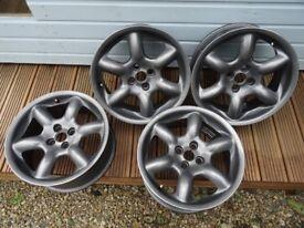 MG / MGF / MGTF Abingdon Alloy Wheels - Genuine OEM Rover - Set of 4