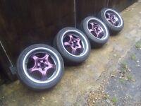 5x100 Deep dish alloy wheels Vw-Audi-Skoda-Seat-Toyota