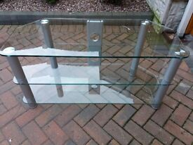 Glass TV stand (free local delivery)