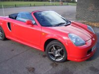 TOYOTA MR2 MK3 CONVERTIBLE, WITH HARD TOP, LOW MILES 88000, EXCELLENT CONDITION 1.8 PETROL