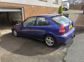 image for Honda, CIVIC, Hatchback, 2001, Manual, 1396 (cc), 3 doors