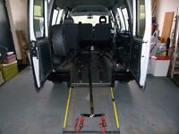 WHEELCHAIR ACCESSIBLE VEHICLE - FOUR SEATS PLUS WHEELCHAIR PASSENGER - RAMP AND WINCH