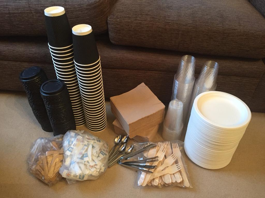 Disposable Wedding/Party Plates, Cutlery, Cups & More