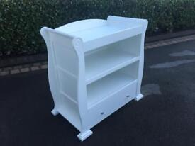 Sleigh Dresser in White finish