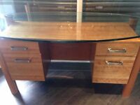 Reception Desk with Glass Top