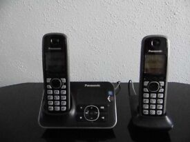 Panasonic Cordless phones x 2 with Bases + Answerphone