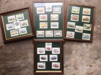 4 x FRAMED MINI COLLECTION Rally Cars, Mini Coopers, Etc ALL UNDER GLASS READY TO HANG