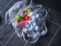 JOB LOT of 100 BRANDED GOLF BALLS - IDEAL FOR PLAY or PRACTISE. IN VERY GOOD CONDITION.