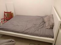 Ikea Double bed frame & storage