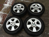 BMW ALLOYS WHEELS WITH GOOD TRYES PARTS