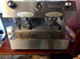 Fracino coffee machine, grinder and knock out drawer