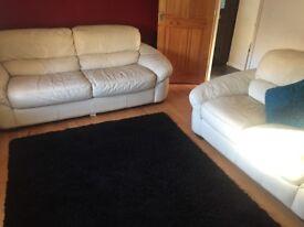 Leather sofa suit