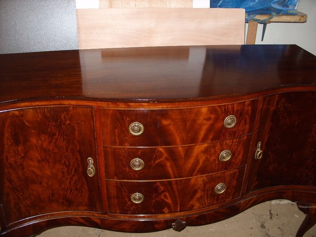 Sideboard In The Queen Anne Style Antique Dining