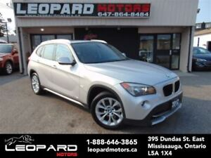 2012 BMW X1 Navigation,Panoramic,Leather*Certified*