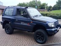 MITSUBISHI SHOGUN 3.0 V6 5 SPEED MANUAL 4X4 4WD. LIFTED READY FOR OFF ROADING