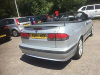 2001 saab 93 turbo convertible auto dn inly 66 k mls from new fantasticclow mileage example wow