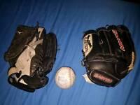 Easton and Mizuno baseball gloves for sale