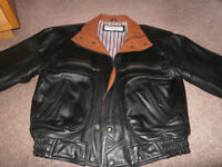 Quality gents genuine leather bomber jacket