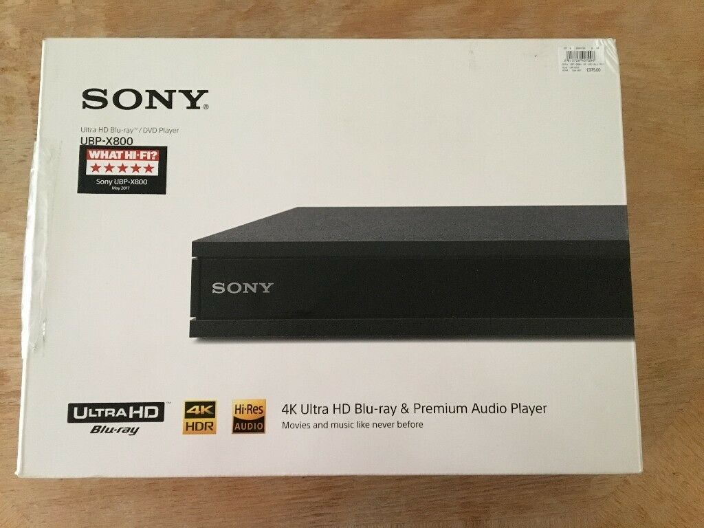 New Unboxed Sony UBP-X800 4K Ultra HD Blu-Ray