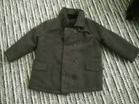 Heavy winter smart jacket with zip and buttons