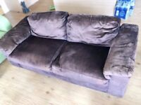 Two-seat sofa(Brown)