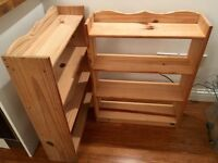 Two wooden bookcases - brilliant, basic & sturdy