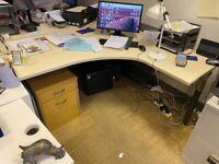2 Large U shaped Desks - 160 x 160 cms