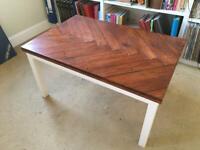 Handmade herringbone coffee table