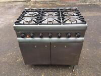 Lincat 6 ring gas cooker/oven- used/untested