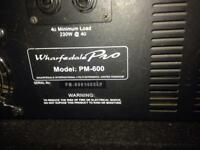 WHARFEDALE 600wattPA MIXER AMP