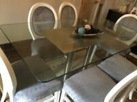 Dining table and chairs from Derry's