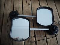 Pair of extender mirrors for caravan/wide trailer.