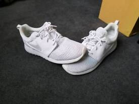 Nike roshe one size 10. limited edition all white