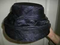 Accessorize edwardian style navy blue hat