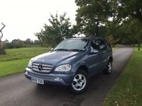 MERCEDES ML270 CDi DIESEL AUTOMATIC - FACELIFT MODEL - LOW MILES - SERVICE HISTORY - FREE DELIVERY