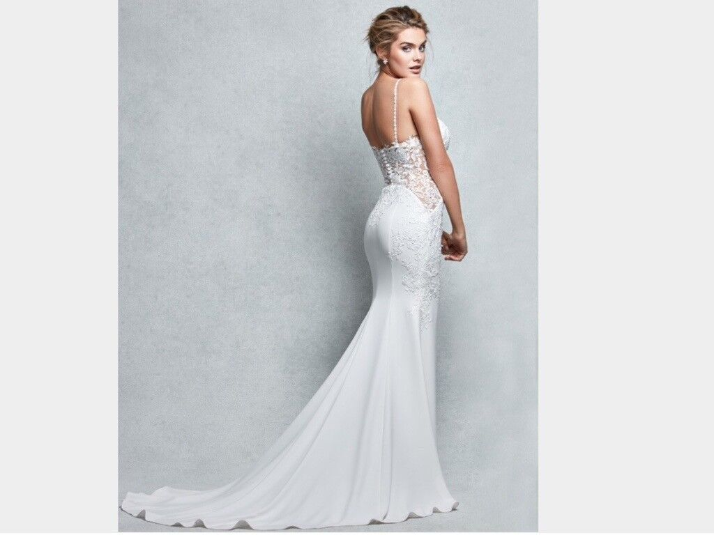 Wed2b Ivory Wedding Dress 'Pea'-The Signature Collection