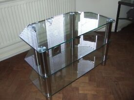 TV GLASS UNIT, TV, HI-FI, DVD STAND, VERY GOOD CONDITION