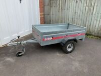 Caddy 530 trailer 5ft x 3ft galvanised steel trailer tip camping