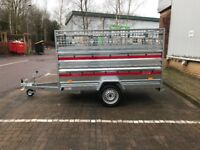 Brand new TEMA PRAKTI car box tiper trailer 750kg with double side and mesh side