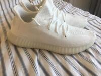 Triple white yeezy boost size 11
