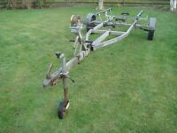 SNIPE BREAK BACK BOAT RIB TRAILER 480kg all rollers working free,tows very well.