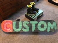 BURTON CUSTOM SMALLS 'FLYING V' SNOWBOARD, BOOTS & BINDINGS BUNDLE!