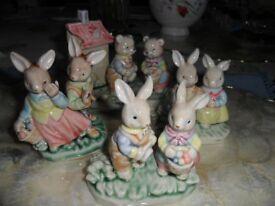 Set of 4 Glazed Figurines