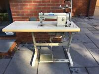 Vista sewing machine table with clutch motor