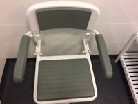 Heavy Duty Wall Mounted Shower Chair