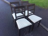 Four pine chairs