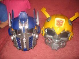 2 x Talking Transformer Helmets