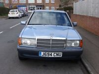 Rare and becoming a sought after classic Mercedes 190 D 2.5 Manual.