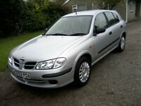 NISSAN ALMERA 1-5 S 16v 5-DOOR 2002 (52 PLATE). 100,000 MILES WITH VAST SERVICE HISTORY, ANY TRIAL.